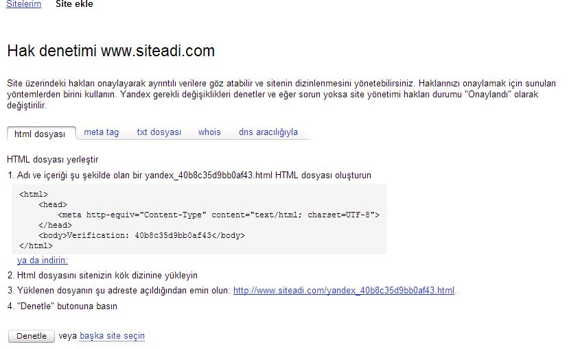 Arama motorlarında bir siteyi indeksleme. Sitenin Yandex ve Google adreslerinde nasıl dizine eklenmesi